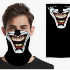 Neck Gaiter Mask Sinister Joker Adult One Size